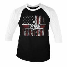 Officially Licensed Top Gun - America Baseball 3/4 Sleeve T-Shirt S-XXL Sizes