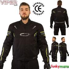 VIPER REFLEX MOTOCICLETA CHAQUETA CE APROBADO ARMADURA PPE 2016 DE MOTERO AMARIL