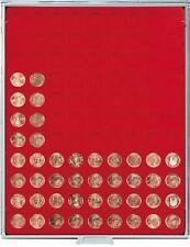 LINDNER Münzboxen Standard mit runden Vertiefungen, für lose Münzen
