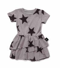 NUNUNU  Kleid layered star dress grau Sterne 92 98 104 110 116 122 128 134  NEU