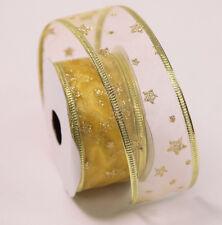 Noël emballage cadeau filaire ruban Noël a thème 38mm x 2.7M emballage cadeaux