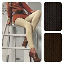 Leggings 150 den LEVANTE pantacollant cotone nero e marrone e291 cotone