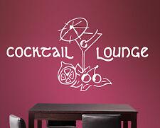 Cocktail Lounge - Partykeller Aufkleber Bar Glas Küche Wandaufkleber WandTattoo