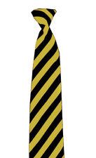 Mens Boys Fancy NeckTie Party Casual Classic Weddings Black & Yellow Stripe Tie