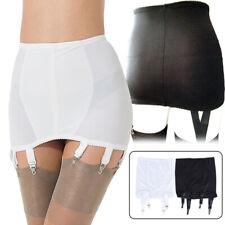 Sexy Lace Women Lace Edge Garter Belt Vintage Girdle 4Strap Suspender Belt Skirt