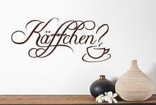 Käffchen? - Kaffee Küche Esszimmer Essen Cafe Aufkleber Wandaufkleber WandTattoo