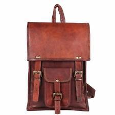 """15"""" Men's New Genuine Vintage Leather Satchel Messenger Handbag Basic Laptop Bag"""