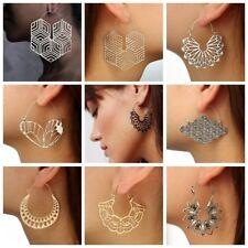 Fashion Boho Jewelry Elegant Silver Gold Long Hook Drop Dangle Tassels Earrings