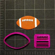 Football Cookie Cutter / Football Fondant Cutter / Cupcake Topper Sports Ball