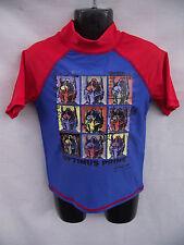 BNWT Boys Sz 3 Blue/Red Transformers Optimus Prime Short Sleeve Rash Vest UPF50+