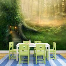 Magisches Baumhaus Wandbild Fantasy Wald Foto-Tapete Mädchen Schlafzimmer Dekor