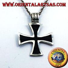 Ciondolo Croce Dei Templari Nera,In Argento o croce di ferro