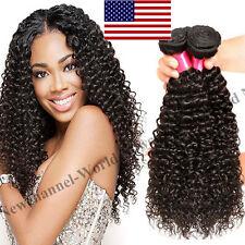 1/3Bundles 7A Virgin Brazilian Peruvian Human Hair Weave Body Deep Wave 150g B15