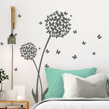 Wandtattoo Wandaufkleber Wandsticker Wohnzimmer Pusteblumen Schmetterlinge W3423