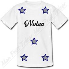 T-shirt Adulte Etoiles avec Prénom Personnalisé - du S au 2XL