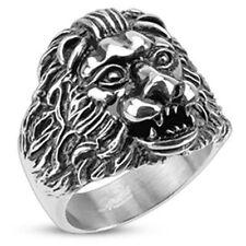 """Herren Damen Ring """"Grave Lion"""" 6 Gr. Edelstahl NEU -- SCHMUCK von ALLFORYOU"""