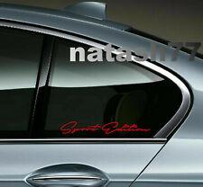 Sport Edition Racing Car Truck SUV window Vinyl Decal sticker emblem Logo 2pcs