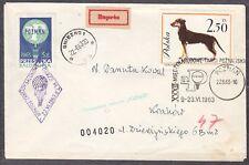 POLAND 1963.VI.22 Ballon POZNAN, Mail Cat.37b Start POZNAN - DALKI landing