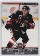 2012-13 Choice Binghamton Senators #04 Mark Borowiecki Ottawa Hockey Card