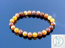 Madagascar Agate Natural Gemstone Bracelet 6-9'' Elasticated Healing Stone