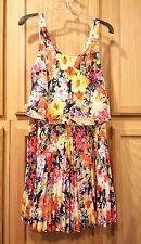 Lauren Ralph Lauren Navy-Multi Floral Pleated Georgette Dress 20061329400 $155