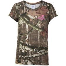 Mossy Oak Break-up Infinity Youth Girls' Camo Short Sleeve Shirts: S-XL