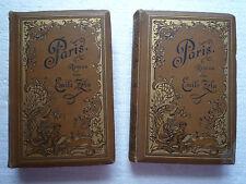 PARIS - ROMAN VON EMILE ZOLA - STUTTGART UND LEIPZIG (BOOKS 1 & 2 )