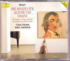 Ltzhak perlman & Daniel Barenboim: Mozart 16 Violin Sonata 4cd DG Violinsonaten