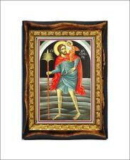Saint Christopher Patron Saint of Travelers and Drivers Handmade wood icon