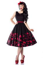 Rock Rockabilly-Kleid 50er schwarz/rot  Gr. S,  M,  L,  XL, 2 XL, 3XL