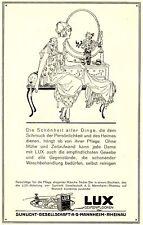 Waschmittel Lux Waschpulver Sunlicht Mannheim Orig 1925 (N)