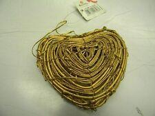 coeur or bois pendentif sapin  deco neuf scrapbooking