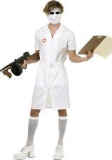 Mens Twisted Joker Nurse Costume Joker Nurse Fancy Dress Costume and Stockings