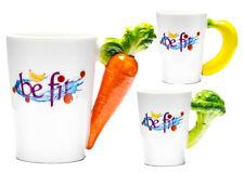 Veggie Tasse Kaffeetasse Gemüse / Obst Griff, Veggie Kaffeebecher