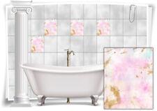 Azulejos pegatinas azulejos pegatinas vintage nostalgia retro Pink violeta baño WC
