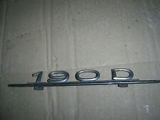 Scritta usata Mercedes 190D 190 D written back rear nameplate zurückgeschrieben