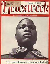 1939 Newsweek Jan 9 - Senegal defends French Somaliland