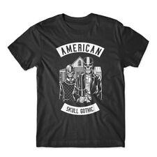American Skull Gothic T-Shirt 100% Cotton Premium Tee New