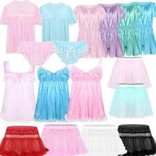 Men Underwear Crossdress Sissy See Through Lingerie Male Skirt Panties Nightwear