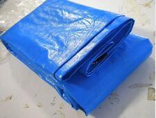 TARPAULIN WATERPROOF LAMINATED WOVEN HEAVY DUTY POLYETHYLENE BLUE UV TREATED