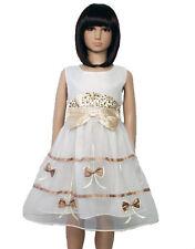 neuf été Fille Fleur Fête robe en ivoire Rose 18-24 Mois 2-3 3-4 4-5 Ans