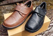 Men's Heavenly Feet Pateley Leather Hook & Loop Shoes