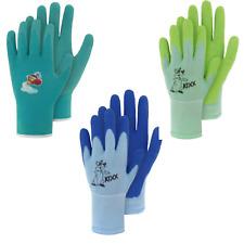 OS Kinder Arbeitshandschuhe Gartenhandschuh 1+1=2 blau Feinstrick vers Größen