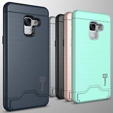 For Samsung Galaxy A8 Plus Phone Case Card Holder Kickstand Slim Cover