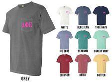 Delta Phi Epsilon Sorority Letters COMFORT COLORS POCKET Shirt - NEW