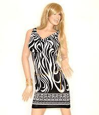 ABITO donna miniabito vestito nerobianco+cintura tubino sexy da sera elastico72