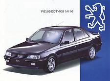 Peugeot 405 MI 16 Prospekt 7 93 D 4 S. brochure 1993 Auto PKWs Frankreich Europa