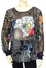 DESIGUAL BLUS REGINA tunique voile femme 67B23A7 coloris 2000 Noir
