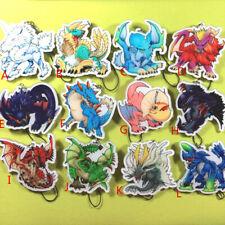 Monster Hunter Tigrex Teostra Chameleos Rajahn Acrylic Keychain Keyring Strap Be