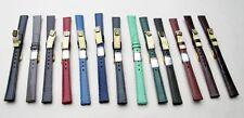 Vera pelle lucertola-UPE € 19,50 - 12mm-Div. colori-watchband-LIZARD